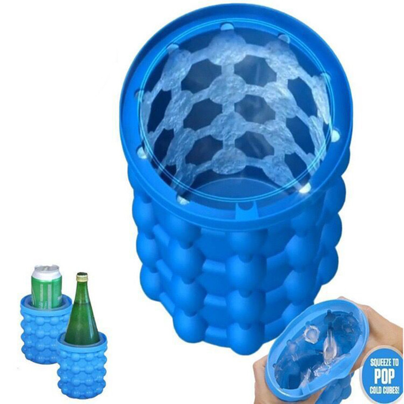 2018 18 World Cup The Revolutionary Wine Cooler Ice Container Barrel Kitchen Bar Ice Dining Bar Space Saving Storage Tools Ice Cube Maker Genie Silicone Ice Bucket